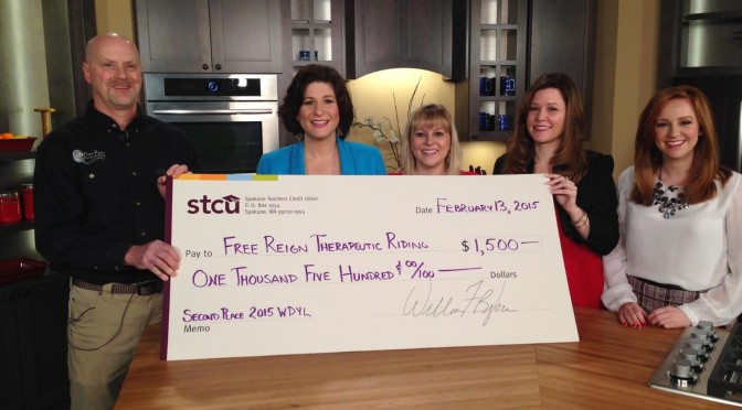 The BIG check presentation!